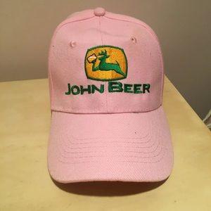 Pink John Beer Baseball Cap